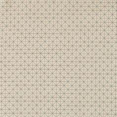 Bomull sand/petrol grafisk mønster