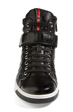 Prada 'Avenue' High Top Sneaker (Men) | Nordstrom