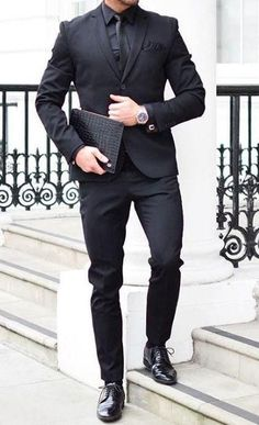 b9856e1f37 All black outfit ideas for men  blackonblack  allblack  mensfashion Moda  Outfits