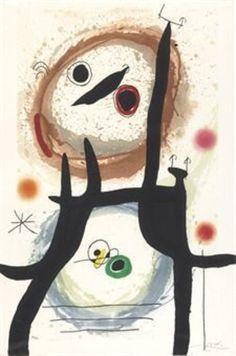Joan Miró | La Femme Angora (1969) | Available for Sale | Artsy