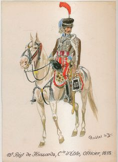 French; 13th Hussars Elite Co. Officer, 1813