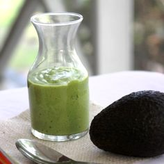 Salad dressing -My favorite dressing: Avocado Lime Vinaigrette -- Creamy and nutritious avocados make a dressing that is gluten, dairy, egg, soy, and sugar free. Paleo Recipes, Real Food Recipes, Cooking Recipes, Yummy Food, What's Cooking, Syrup Recipes, Paleo Food, Guacamole, Clean Eating