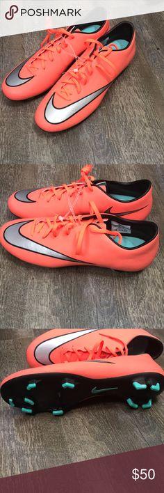 ea21936df387f7 NWOT NEON ORANGE NIKE SOCCER CLEATS 🔥 BRAND NEW Nike MERCURIAL BRIGHT  ORANGE SOCCER CLEATS. Poshmark