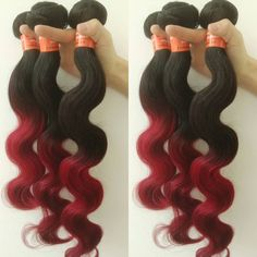 Red fire Ombre bundles #hair#Ombre#red#fire#fashion#nice#color