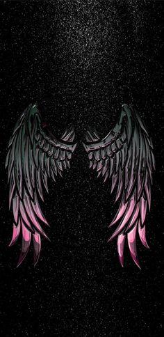 Mamma need wings like dat Wings Wallpaper, Angel Wallpaper, Dark Wallpaper, Tumblr Wallpaper, Wallpaper Backgrounds, Metallic Wallpaper, Angel Wings Art, Angel Art, Dark Angel Wings
