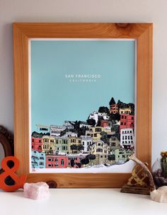 San Francisco Silkscreen Limited Edition Art Print - 16x20 hand screenprinted by Hero Design Studio by HeroDesignStudio on Etsy https://www.etsy.com/listing/80921591/san-francisco-silkscreen-limited-edition
