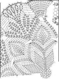 Home Decor Crochet Patterns Part 64 - Beautiful Crochet Patterns and Knitting Patterns Crochet Doily Diagram, Crochet Mandala Pattern, Crochet Circles, Crochet Art, Crochet Stitches Patterns, Crochet Home, Thread Crochet, Irish Crochet, Knitting Patterns