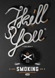 Typographie Cigarettes, très belle réalisation