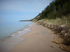 Lake Michigan Shoreline North of Portage Lake
