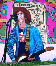 Doug Sahm mural by San Antonio Current, via Flickr
