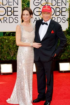 Just cause he can and that is his WIFE!!  LOL Golden Globes 2014: Red-Carpet Arrivals