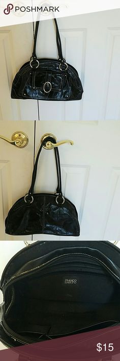 Franco Sarto vegan bag Franco Sarto vegan bag.a few threads to clip small scrape  otherwise good used condition.Black .all hardware and zippers work.nice everyday bag Franco Sarto Bags Shoulder Bags