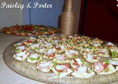 mini steak tacos for Kayla's nautical theme baby shower