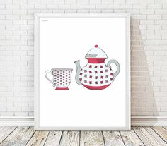 Cup print, kitchen art,cup tea ,cup coffee,art print,art home print, living room,wall art decor, kitchen decor, kitchen print, tea time