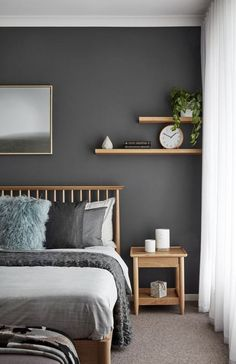 Perfect Small Bedroom Design That Maximizes Style And Efficiency Warm Bedroom, Small Master Bedroom, Home Bedroom, Bedroom Wall, Bedroom Decor, Nordic Bedroom, Wall Decor, Master Bedroom Color Ideas, Small Bedrooms