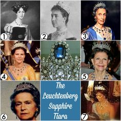 ♛ Diadem Directory: Sweden The Leuchtenberg Sapphire Tiara ✦ Alternate names: None known ✦ First appearance: 1806 ✦ Origin: Made by Marie-Etienne Nitot; given to Princess Augusta of Bavaria,. Royal Crown Jewels, Royal Jewelry, Royal Tiaras, Tiaras And Crowns, Swedish Royalty, Tiara Hairstyles, Fantasy Jewelry, Queen, Victoria