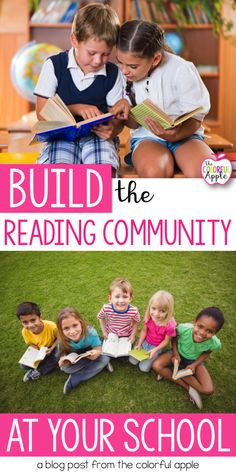A school reading community is created when students, teachers, staff and families are all invested in the reading experience. It is a community in which books are celebrated and enjoyed by all! Here are some ideas for creating a school reading community! Reading Lessons, Reading Resources, Reading Activities, Literacy Activities, Teaching Reading, School Community, Classroom Community, Reading Comprehension Strategies, Teacher Tips
