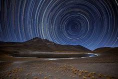 Science and art unite in this beautiful photograph, taken in Chile's Atacama Desert by ESO Photo Ambassador Adhemar M. Duro Jr. To create this visual masterpiece Adhemar pointed his camera at the sky's south pole, the point at the centre of all the bright arcs and circles. All the stars in the night sky revolve around this point. Over a period of several hours, this motion creates star trails, with each individual star tracing out a circle on the sky.