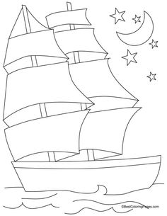Ship coloring page 4 | Download Free Ship coloring page 4 for kids | Best Coloring Pages