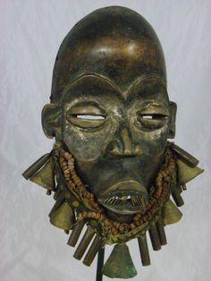 Stunning African Tribal Mask Dan Dangle Ceremonial by  https://www.etsy.com/shop/AfurakanArt