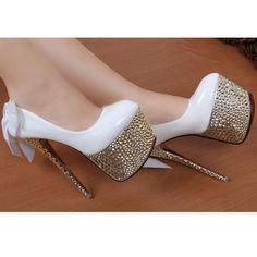 Ladies Sexy Platform High Heels In White or Black