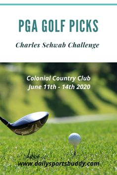 Some PGA Golf Picks and Free Golf Picks for the 2020 Charles Schwab Challenge PGA Tour Event. The first PGA Golf Event after an extended break and some of the better chances. PGA Golf Predictions, Golf Picks and some of the fancied favourites to take home the first event. #pga #pgabetting Golf Picks, Fantasy Golf, Charles Schwab, Golf Betting, Golf Pga, Daily Fantasy, European Tour, Challenges, Tours