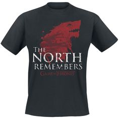 Game Of Thrones  T-Shirt  »The North Remembers«   Buy now at EMP   More Fan merch  T-shirts  available online ✓ Unbeatable prices!
