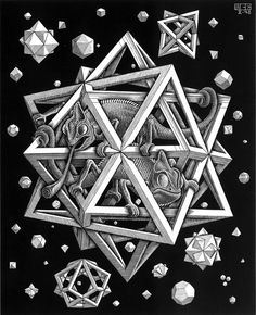Stars  October 1948  Wood engraving by M. C. Escher / Sacred Geometry <3
