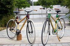Modèle fixie et urbain en bambou