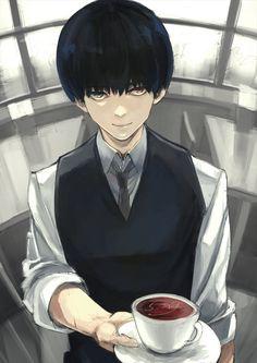 Coffee served by Ken - Tokyo Ghoul ~ DarksideAnime