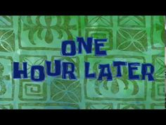 One Hour Timecard - No Copyright! - YouTube Youtube Editing, Intro Youtube, You Youtube, Video Editing, Spongebob Time Cards, Spongebob Episodes, Patrick Star, Tomorrow For Sure, Casa Anime