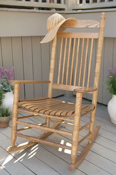 Summer's the perfect time to lounge in our real hardwood Rocking Chairs. Choose from a variety of styles, colors, and military and collegiate themes.