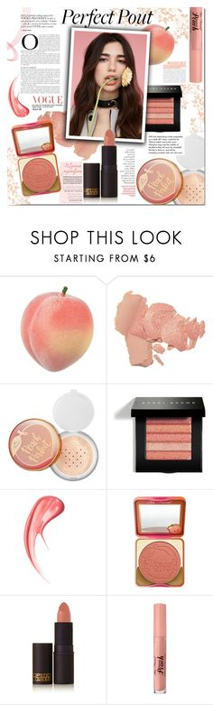 """""""Peach lipstick- Dua Lipa"""" by mery90 ❤ liked on Polyvore featuring beauty, Sephora Collection, Bobbi Brown Cosmetics, By Terry, Too Faced Cosmetics, Lipstick Queen, Tiffany & Co., Beauty, makeup and peachlipstick"""