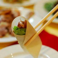 Peking duck from Quanjude Restaurant. Established in 1864. Richard Nixon was a noticeable guest in 1972.
