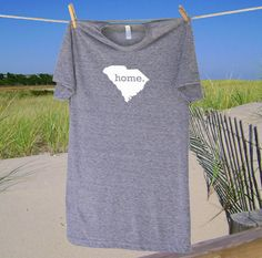 South Carolina Home State Tshirt - Unisex Sizes S MD LG and XL - more colors. $21.95, via Etsy.