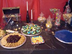 Pirate baby shower dessert table