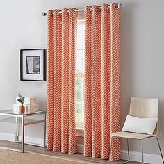 Modern and chic, the Herringbone Grommet Top Window Curtain Panel is the perfect accent. Adding style to your space, the panel features a subtle herringbone pattern to offer a touch of pizzazz, while blocking unwanted sunlight.