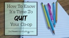 Struggling to feel the Awesome in your homeschool co-op? Maybe it's time to call it quits. Or...is it? Here are a few tips to help you know.