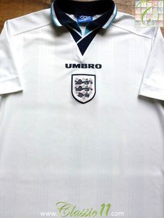 Relive England's 1996/1997 international season with this vintage Umbro home football shirt.