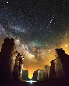 Milky Way over Monument Rocks in Kansas, US. | PC: @jaxsonpohlmanphotography ten trees are planted for every item purchased. shop now: tentree.com