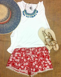 Outfits Styled for the 4th of July // Volcom Womens Tank Top