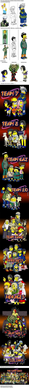 Any fans of Naruto & The Simpsons. Sarada Uchiha, Gaara, Naruto Shippuden, Boruto, Kakashi, Akatsuki, Naruto Funny, Anime Naruto, Fallout Cosplay