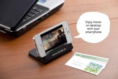 2-in-1 business card holder ~ can use as mobile phone stand