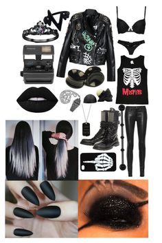 meeting black veil brides by ravenxsykessola on Polyvore featuring polyvore, fashion, style, Triumph, rag & bone/JEAN, HTC, Fidelity, ADORNIA, Impossible and clothing