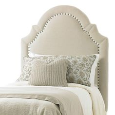 Try this twill headboard to update your bedroom!