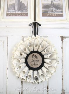 French Country Christmas Decor Grey Black by SimpleJoysPaperie, $65.00