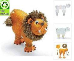 Como hacer un leon en material reciclable - Imagui