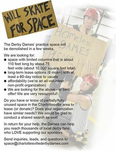 Please help us find a new and/or permanent practice & bouting venue!  We are flexible and willing to share! :)