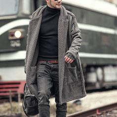 0de3d1c0c6c Mid Length Double Sided Warm Wool Blend Coat