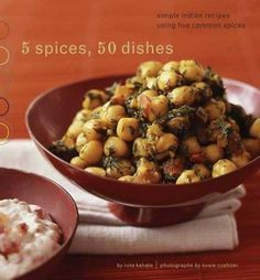 The premise is simple: with five common spices and a few basic ingredients, home cooks can create fifty mouthwatering Indian dishes, as diverse as they are delicious. Cooking teacher Ruta Kahate has c